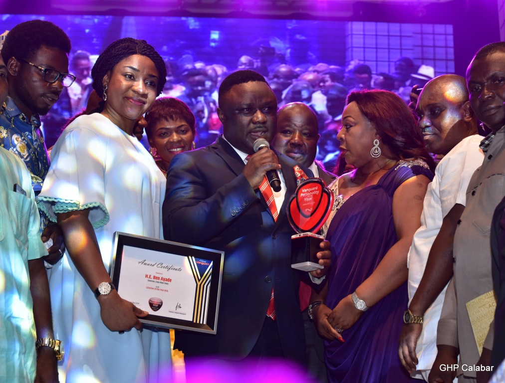 Gallery: Ayade Receives Vanguard Newspaper Governor of the year award