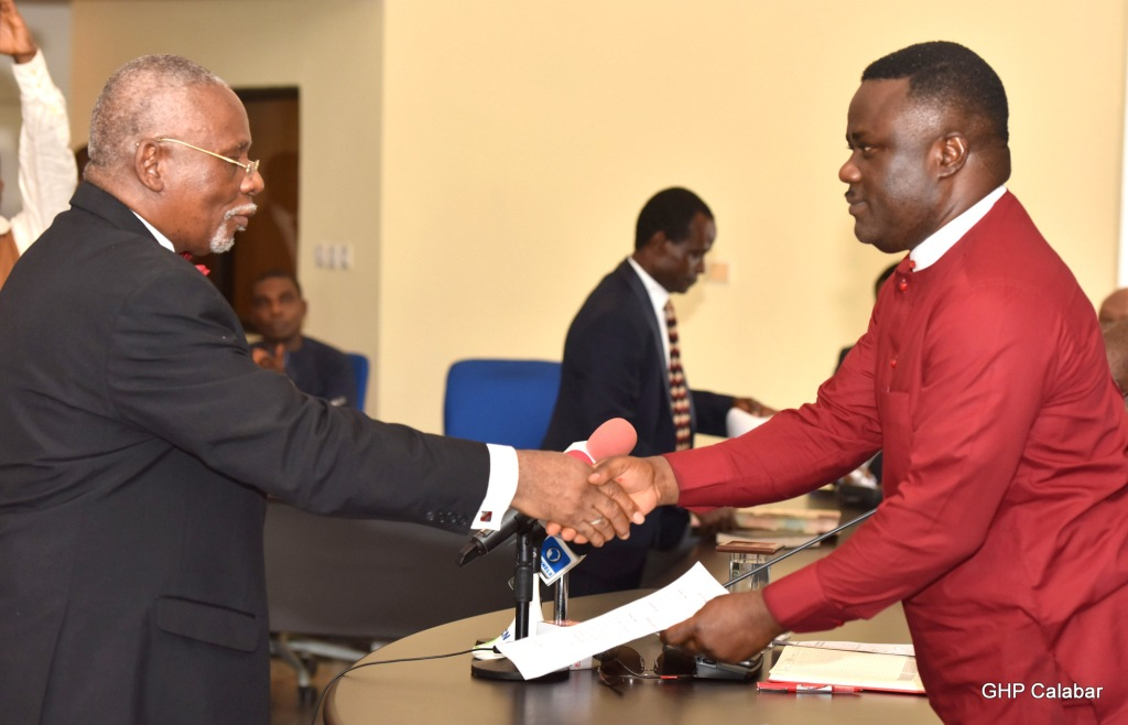 Ayade swears in Acting Chief Judge, charges him on judiciary reforms