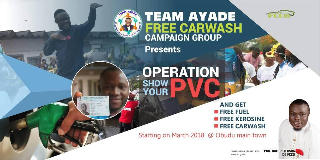 2019:Group to embark on operation show your PVC and distribute free fuel for Ayade