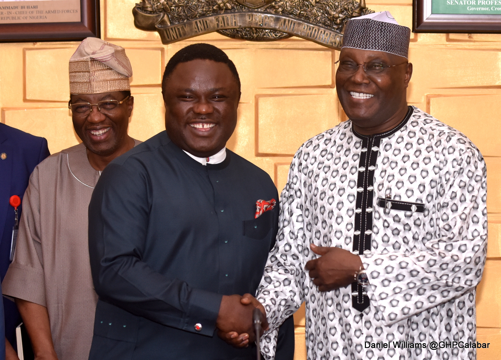 Ayade, epitome of good governace-Atiku