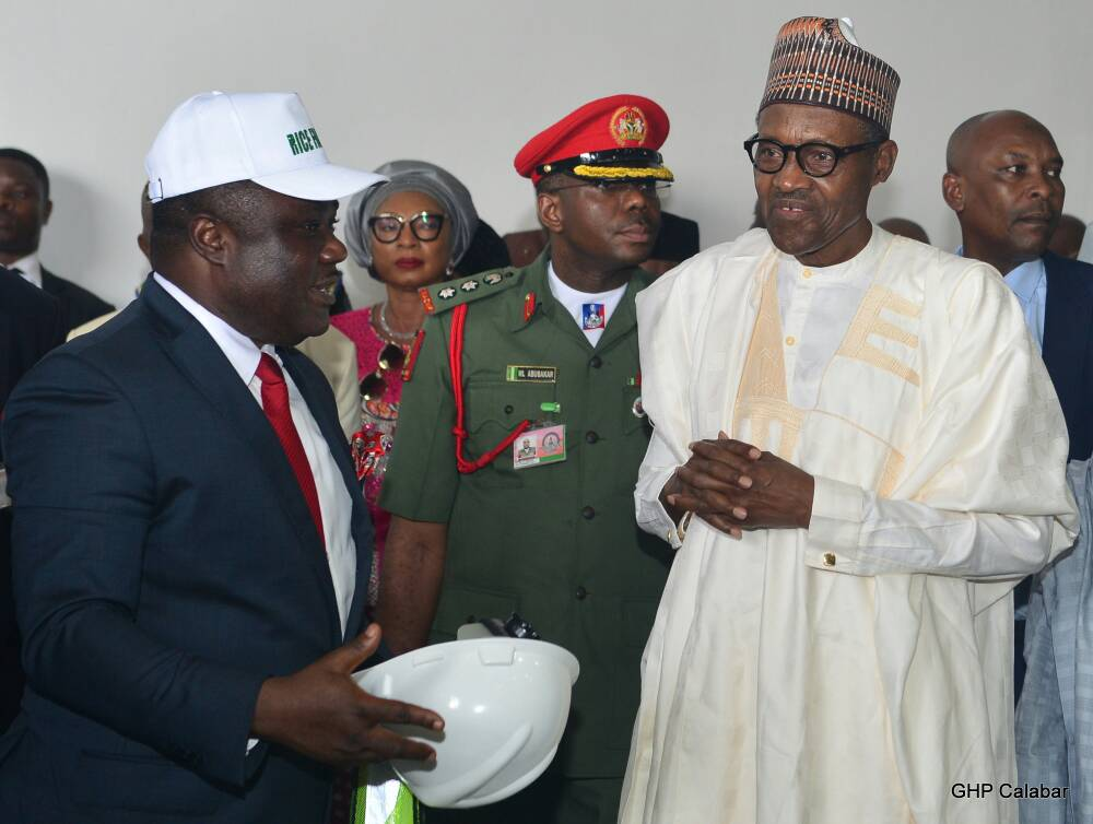 Buhari Commissions Rice Seedling Factory In Calabar, Says It Is People Oriented