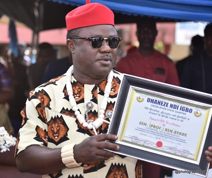 Igbos in Cross River honour Ayade,  declare support for his 2019 governorship