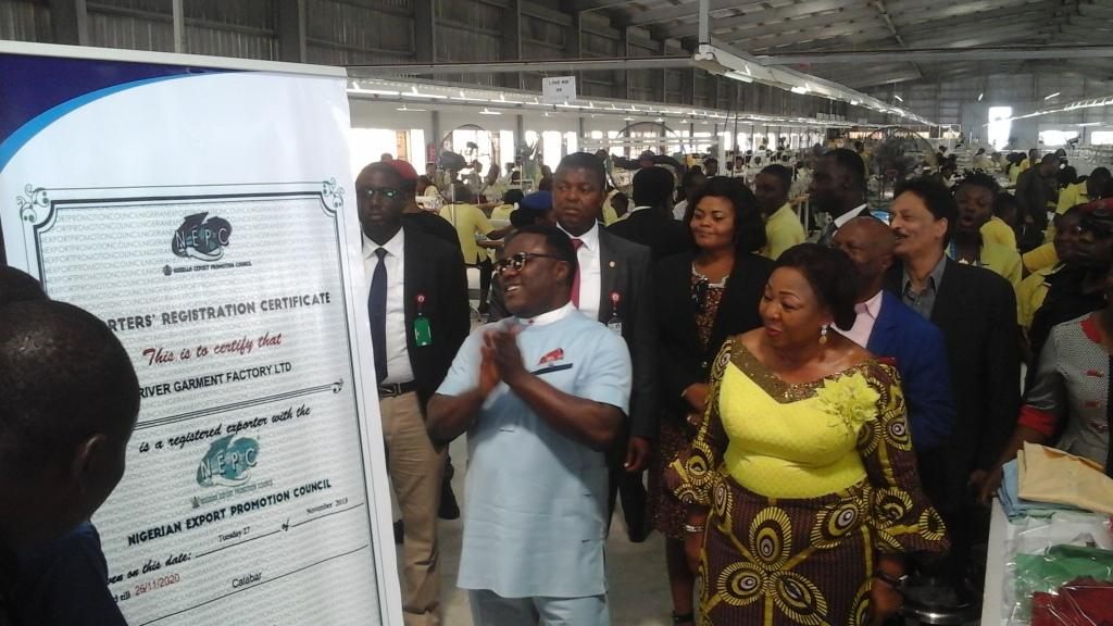 FG certifies Cross River Garment Factory products for export, as Ayade enjoins local patronage