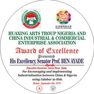 Industrialization: Ayade gets Chinese award of excellence