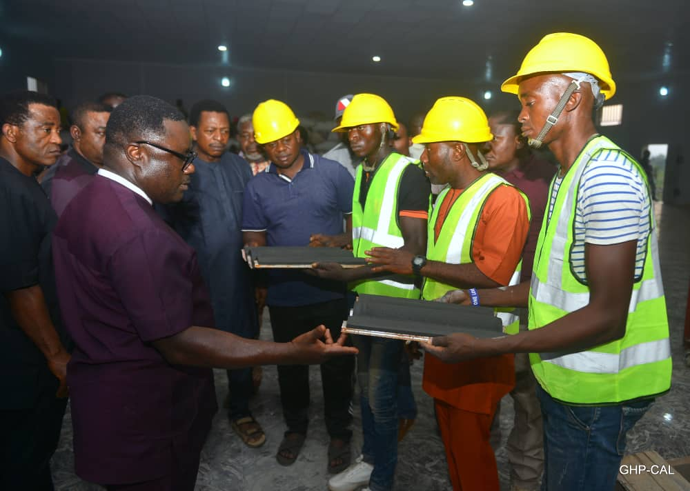 Ayade expresses satisfaction as Cross River Roofing Tiles Factory commences test-production