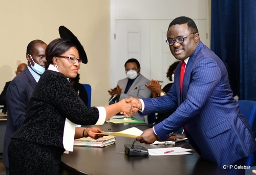 Ayade swears in Akon Ikpeme as Cross River State Chief judge, charges her on justice to all
