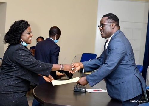 Ayade swears in new Head of Service, implores her to flush out ghost workers